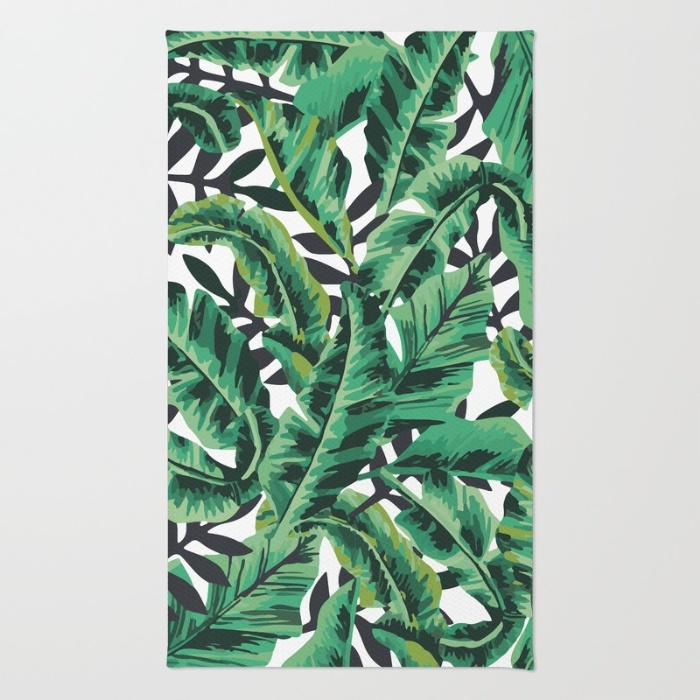 tropical-glam-banana-leaf-print-rugs