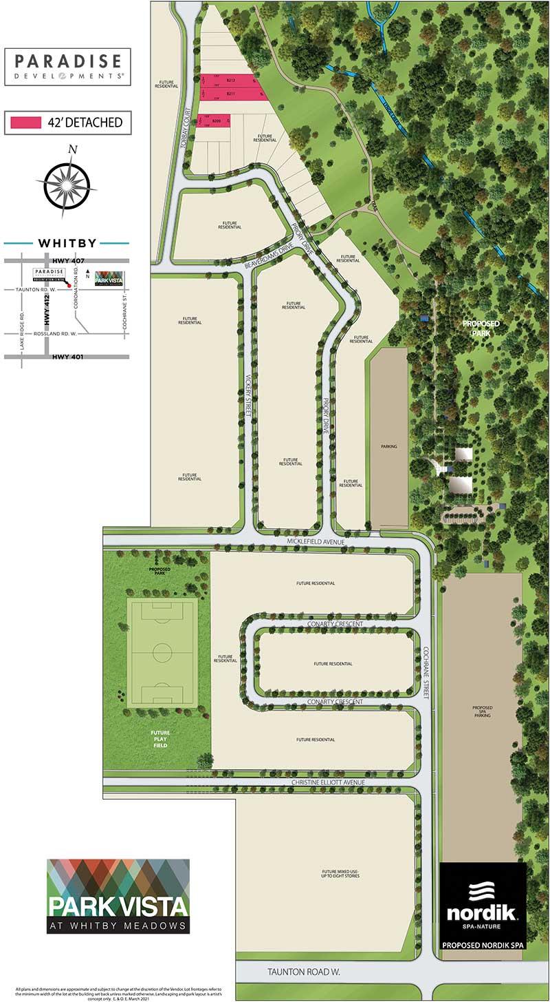 Whitby Meadows & Park Vista   Siteplan